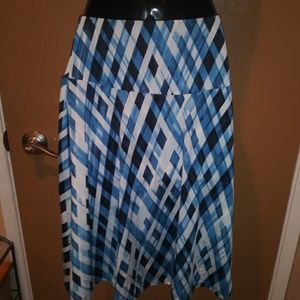 Anthropologie Striped Skirt One Size Fits All